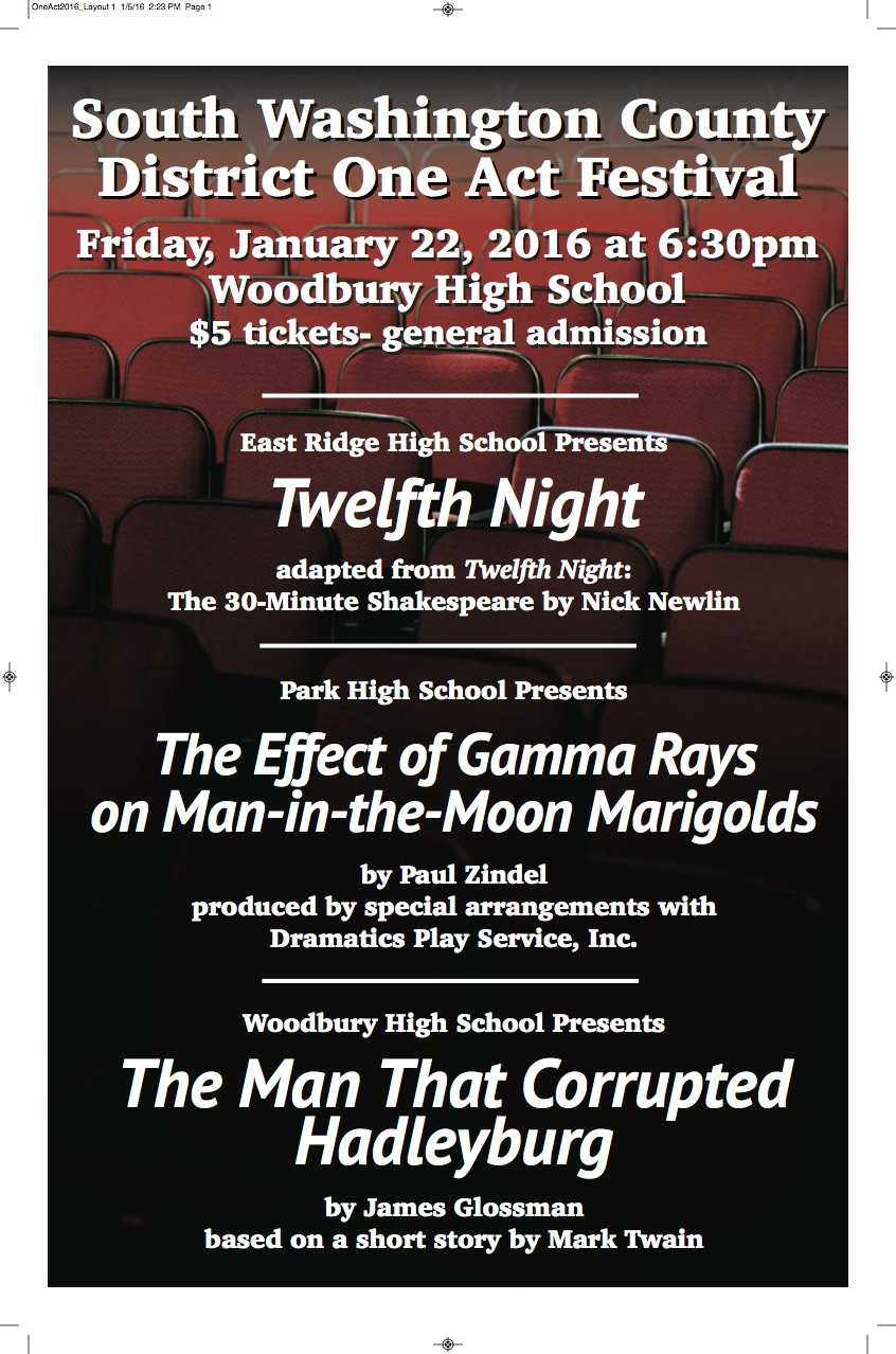 The Loft Stage » 2016 District One Act Play Festival at WHS